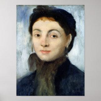 Edgar Degas   Portrait of Josephine Gaujelin, 1867 Poster