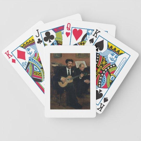 Edgar Degas   Portrait of Lorenzo Pagans Bicycle Playing Cards