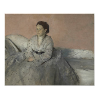 Edgar Degas - Portrait of Madame Rene de Gas Poster