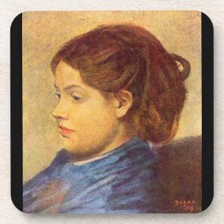 Edgar Degas - Portrait of Mademoiselle Dobigny Coasters