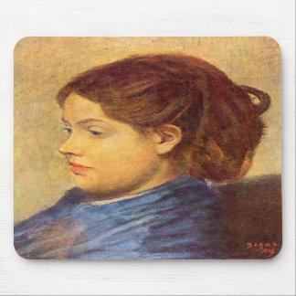 Edgar Degas - Portrait of Mademoiselle Dobigny Mouse Pads