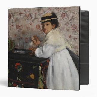 Edgar Degas   Portrait of Mlle Hortense Valpinçon 3 Ring Binder