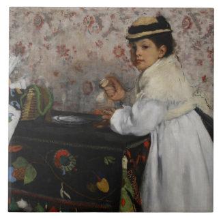 Edgar Degas | Portrait of Mlle Hortense Valpinçon Tile