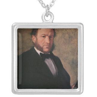 Edgar Degas | Portrait of Monsieur Ruelle, 1861 Silver Plated Necklace