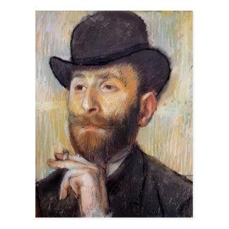 Edgar Degas: Portrait of Zacherie Zacharian Post Card