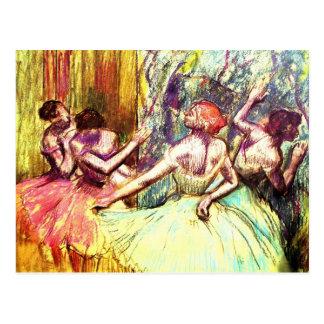 Edgar Degas postales de los bailarines