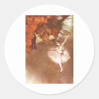 Edgar Degas - Prima Ballerina Rosita Mauri 1878 Classic Round Sticker