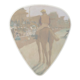 Edgar Degas | Race Horses in front of the Stands Acetal Guitar Pick