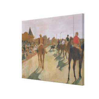 Edgar Degas | Race Horses in front of the Stands Canvas Print