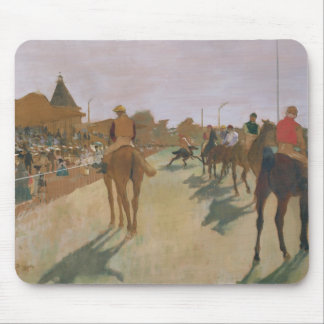 Edgar Degas   Race Horses in front of the Stands Mouse Pad