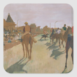Edgar Degas | Race Horses in front of the Stands Square Sticker