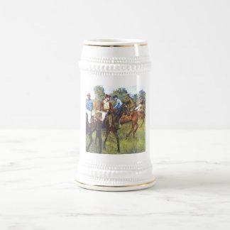 Edgar Degas - Race Horses Jockey Trees Rennpferde Beer Stein
