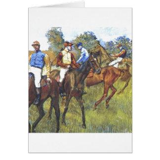 Edgar Degas - Race Horses Jockey Trees Rennpferde Greeting Card