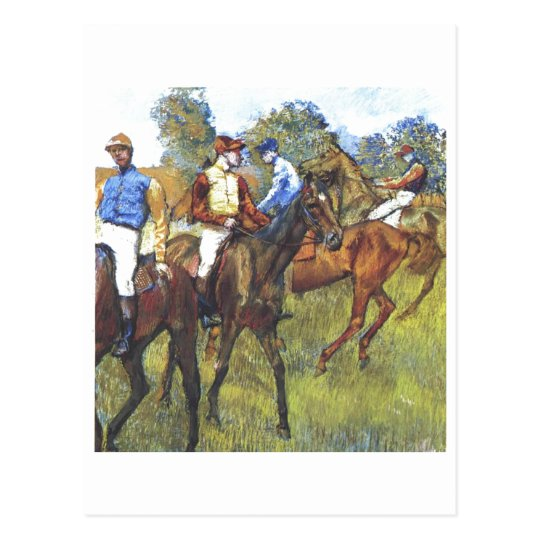 Edgar Degas - Race Horses Jockey Trees Rennpferde Postcard