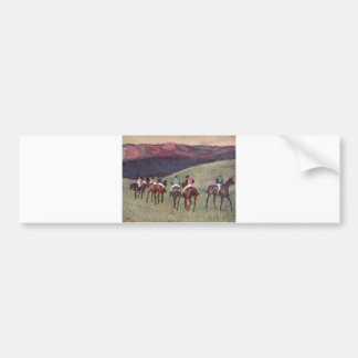 Edgar Degas - Race Horses Training 1894 racehorses Bumper Sticker