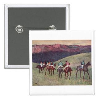 Edgar Degas - Race Horses Training 1894 racehorses Button
