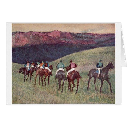 Edgar Degas - Race Horses Training 1894 racehorses Card