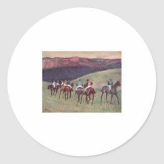 Edgar Degas - Race Horses Training 1894 racehorses Classic Round Sticker