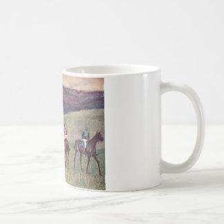 Edgar Degas - Race Horses Training 1894 racehorses Mugs