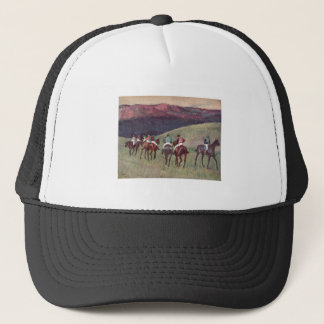 Edgar Degas - Race Horses Training 1894 racehorses Trucker Hat