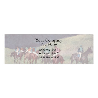 Edgar Degas: Racehorses in a Landscape Business Card