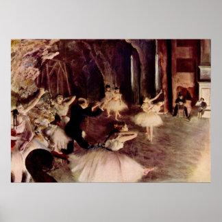 Edgar Degas - Rehearsal Ballet 1878-79 oil canvas Poster