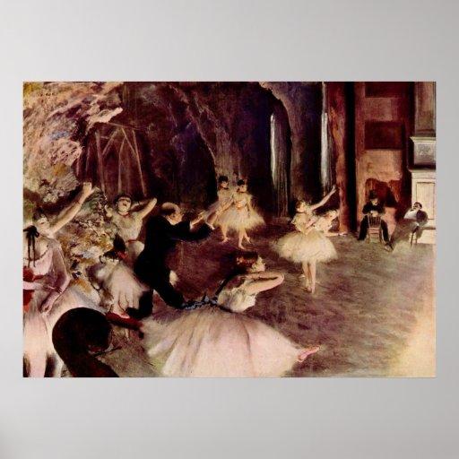 Edgar Degas - Rehearsal Ballet 1878-79 oil canvas Posters