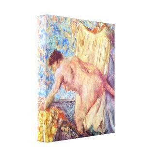 Edgar Degas - retirándose de la bañera Impresiones En Lona Estiradas
