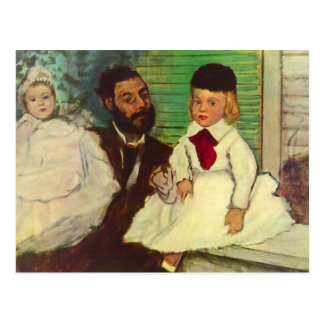 Edgar Degas - retrato de la cuenta Lepic y de su d Postales