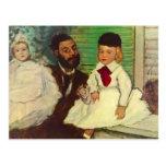 Edgar Degas - retrato de la cuenta Lepic y de su Postal