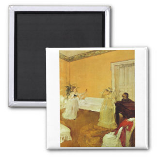 Edgar Degas - retrato Marcelino Desboutin 1872-73 Imán Cuadrado