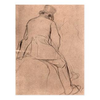 Edgar Degas - Rider Postcard