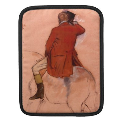 Edgar Degas - Rider with red jacket Sleeves For iPads