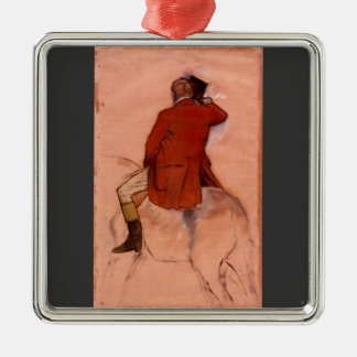 Edgar Degas - Rider with red jacket Christmas Ornaments