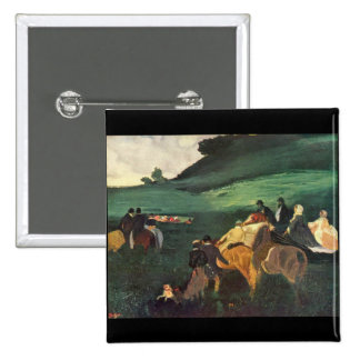 Edgar Degas - Riders in the landscape Pinback Button