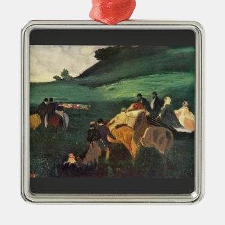 Edgar Degas - Riders in the landscape Christmas Ornament