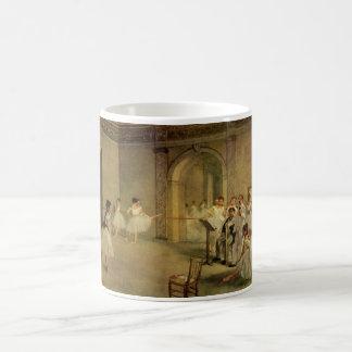 Edgar Degas - ruda Peletier 1872 de Pasillo del ba Taza Básica Blanca