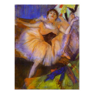 Edgar Degas - Seated Dancer 1879-1880 Bust Woman Poster