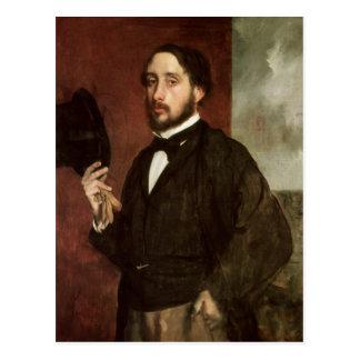 Edgar Degas   Self portrait, c.1862 Postcard