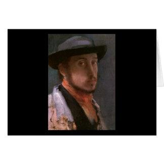 Edgar Degas Self Portrait Card