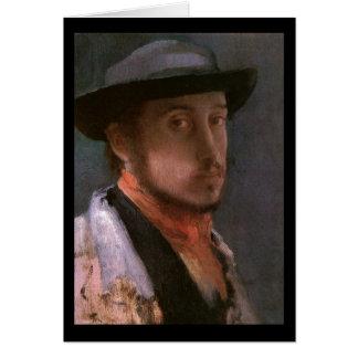 Edgar Degas Self Portrait Greeting Card