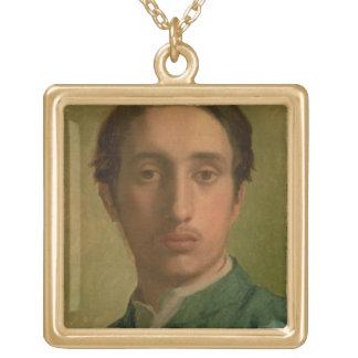 Edgar Degas | Self Portrait Gold Plated Necklace