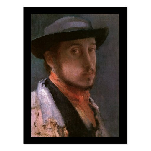 Edgar Degas Self Portrait Postcard