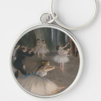 Edgar Degas Silver-Colored Round Keychain