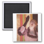 Edgar Degas - Singer with Glove 1878 Woman Flower 2 Inch Square Magnet