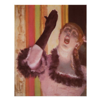 Edgar Degas - Singer with Glove 1878 Woman Flower Poster