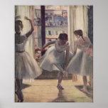 Edgar Degas - sitio 1873 de tres bailarines en la  Posters