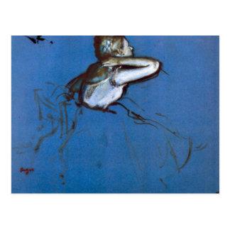 Edgar Degas - Sitting dancer in profile with hand Postcard