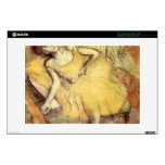 Edgar Degas - Sitting dancer with the right leg up Decals For Laptops