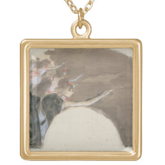 Edgar Degas | Sketch for a fan, c.1879 Gold Plated Necklace